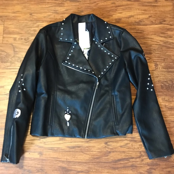 Disney Jackets & Blazers - Disney Villains Studded Faux Leather Jacket